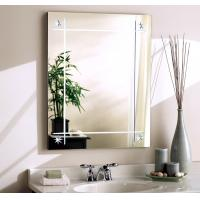 China Silver Wall Mount Bathroom Mirror With Lights / Clear Anti Steam Bathroom Mirror wholesale