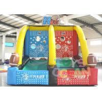 China Commercial Grade Inflatable Sport Game Two Players Inflatable Basketball Shooting Games wholesale