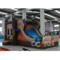 China Pirate Boat Inflatable Bounce House With Slide Combo 6 X 4 M , EN14960 CE wholesale