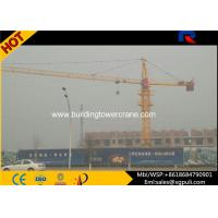 Quality 6 Ton External Climbing Tower Crane , CatHead Tower Crane 0.6r/Min Slewing Speed for sale