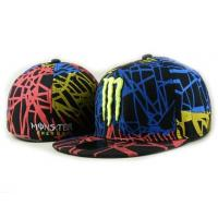 China Spring Flat Brim Fitted Baseball Hats Black With 3D Embroidery wholesale