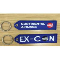 Continental Airlines Ex-Con Fabric Embroidered Key Tags 13 x 2.8cm 100pcs lot