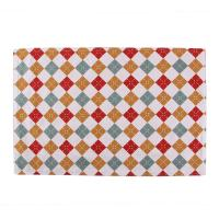 China 40 * 35cm Dining Room Table Placemats Christmas Pattern Printed Square Shape wholesale