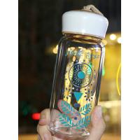 China Popular Nice Fashionable Water Bottles , Reusable Glass Drinking Bottles With Lids wholesale