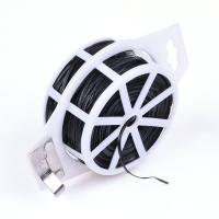 China Flexible PVC Coated Flat Garden Twist Wire Tie With Cut - To - Length Cutter on sale