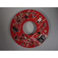 China Red Round LED PCB Assembly , Dual Layer PCB Board wholesale