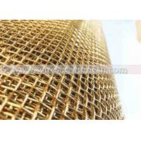 Wholesale Durable 4 X 4 Brass Wire Mesh Light Weight For Cabinet Screens / Soffits / Filtration from china suppliers
