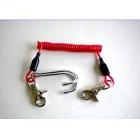 China 3.0mm Diving Stainless Steel Reef Coiled Lanyard Double Hook Spiral wholesale