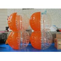 Inflatable Yard Toys Clear Body Bumper Ball Half Blue And Orange Color