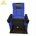 China Modern Luxury Hall Upwarp Seat Foldable Armrest PP Shell Cinema Theater Chairs wholesale