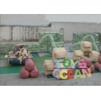 China 0.9MM PVC Inflatable Paintball Bunkers Bootcamp Speedball Bunker Free Shipment wholesale