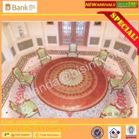 (BK0109-0012)Nouveau Luxury Royal Palace Dining Table Chairs Dining Room Furniture/ Marquetry Super Round Dining Set 12p