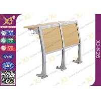 China Wooden Material Attached School Desk And Chair Floor Mounted wholesale