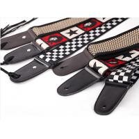 China Customize Guitar Strap / Monogrammed Leather Guitar Strap With Buckle  on sale