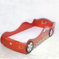 China Cartoon Bedroom / Kids Playroom Furniture Children Racing Car Bed With LED Lights wholesale