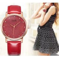 China Fashion Bling Bling Style Leather Band Women Ladies Zorcon Scale Quartz Watches 8005L wholesale