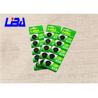 China Electronics Button Cell 3 Volt Battery , Lithium Coin Battery In Card Package 190mAh wholesale