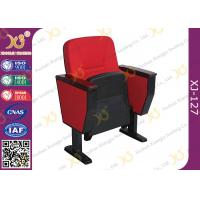 China Heavy Duty Stacking Church Hall Chairs With Back Bag And Tablet wholesale