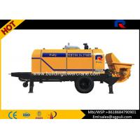 China Trailer Diesel Concrete Pump For Infrastructural Construction 161mm Aggregate Particles wholesale