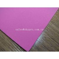 China 1mm Thick High Elastic Pink SBR Thin Neoprene Fabric EVA with Polyester Jersey Coating Rubber Sheet wholesale