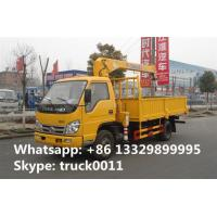 hot sale Forland 4*2 LHD 2tons telescopic boom mounted on truck, best price FORLAND 2,000kgs cargo truck with crane