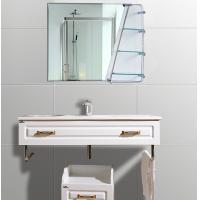 Quality Cosmetic Oval Anti - Fog Bathroom Wall Mirrors With Shelf 600mm × 800mm for sale