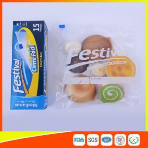 China Transparent Ziplock Plastic Food Storage Bags Resealable , Zip Seal Food Bags wholesale