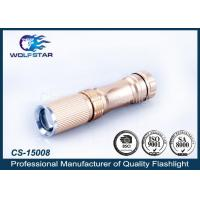 China AA Battery Operated Focused Mini CREE Flashlight , Light Weight Torch with Clip wholesale