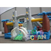 China 0.5mm PVC Colorful Inflatable Jumping Area Jungle Bouncer Castle For  Kids wholesale