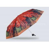 China Red Mini Parasol Pocket Size Umbrella , Five Fold Umbrella Strong Aluminum Frame on sale