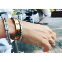 China Cartier 18K Yellow Gold Love Bracelet With 4 Diamonds Customization Acceptable wholesale