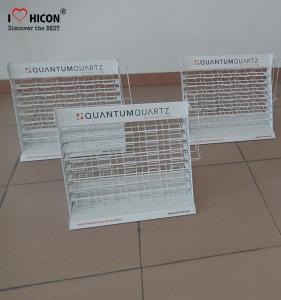 China Metal Wire Showroom Tile Display Racks Countertop Marble Tile Display Stands wholesale