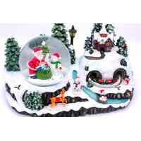 China Christmas Holiday Music Box with snow globe wholesale