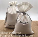 China Double Canvas Drawstring Bag Cotton Pouch Gift Sachet Bags Muslin Bag Reusable Tea Bag,Organic Cotton Reusable Produce B wholesale