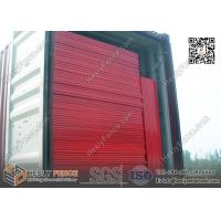 Red color portable construction fencing panels