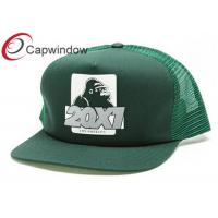 Quality 5 Panel Trucker Mesh Cap with Printed Image on Frontside / Summer Hat for sale
