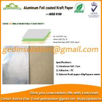 China Widely use Aluminum foil coated kraft paper reflective insulation for roof on sale