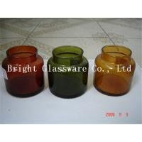 China colorful glass candle container, candle jar, blown jar wholesale