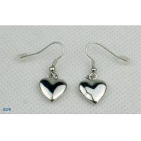 China Wholesale lovely heart silver dangle drop earrings with competitive price wholesale