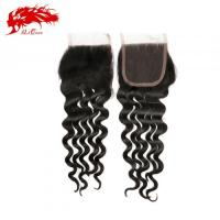 Ali Queen Natural Wave 4*4 Lace Closure Human Hair Extensions Free Shipping