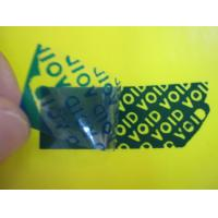 Buy cheap White / Blue / Black High Residue Tamper Evident Security Labels For Anti from wholesalers