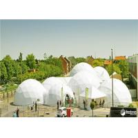 Buy cheap Outdoor Geodesic Dome Tent Wind Resistant Sphere Tents With White Fabric from wholesalers