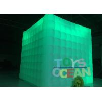 Quality 2.5m Cube Tube Led Lighting Advertising Inflatables Portable Photo Booth Wedding for sale