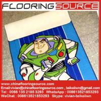 China Nylon Loop Pile Latex Back Chromojet Printing Kids Playing Rugs wholesale
