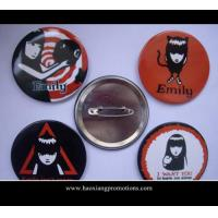 China hot sale 20mm dia round shape lovely gift small tin button badge as your require wholesale