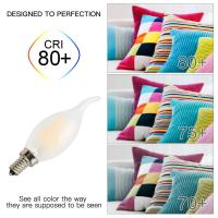 Quality Frosted Glass Cover E14 Led Filament Bulb C35 Flame Shape AC220V / AC120V for sale