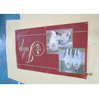 China Solvent Printing PVC Coated Outdoor Mesh Banners With Coppper Grommets Sewing wholesale