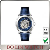 China Sapphire Glass Mechanical Skeleton Automatic Watch , 10 ATM Automatic Stainless Steel Watch on sale