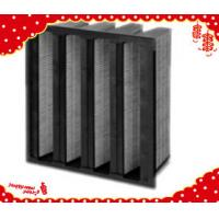 China 592x592x292mm (24×24×12 inch) V bank W type Mini-pleated activated carbon chemical filter wholesale
