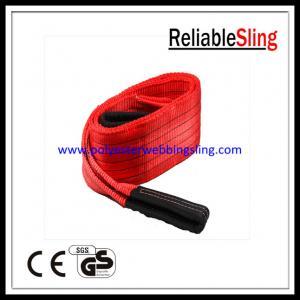 150MM 5T Flat Polyester Web Sling for Lifting , En 1492-1 duplex web sling